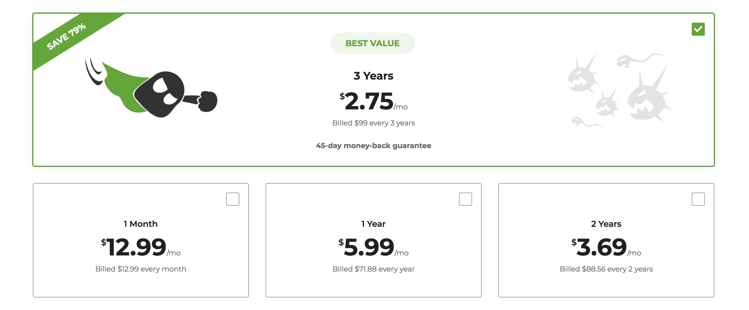 CyberGhost pricing and plans