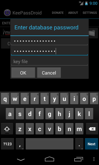KeePass mobile app