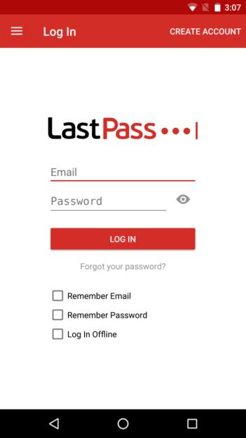 Lastpass mobile app