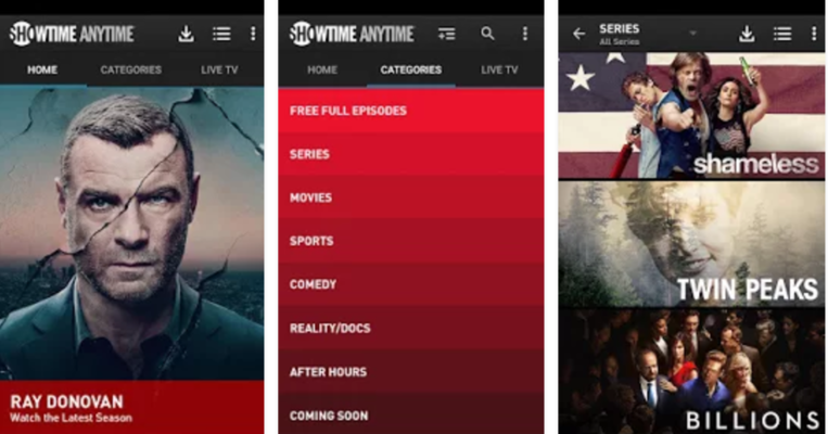 Showtime anytime app