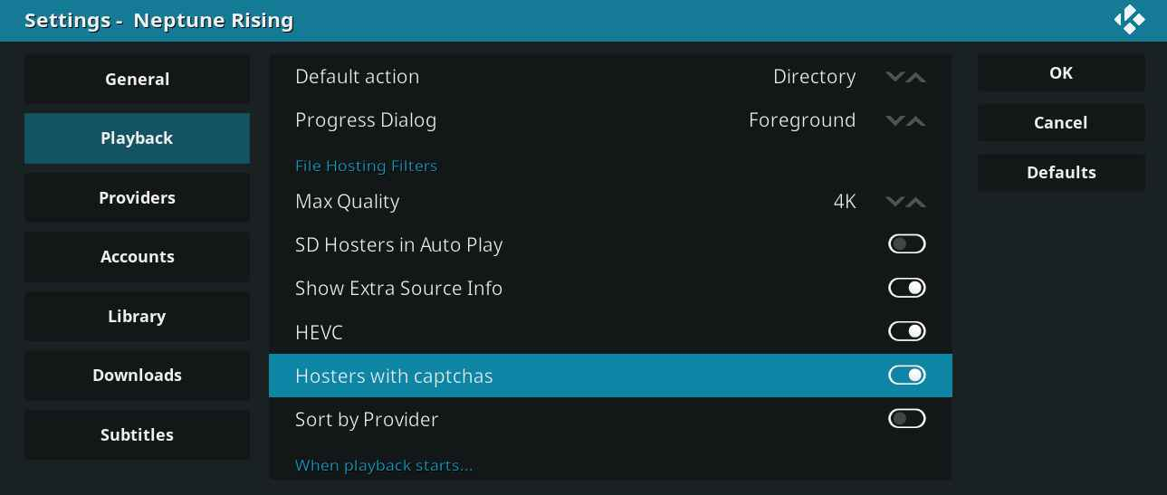 Disable Hosters With Captcha within Kodi app