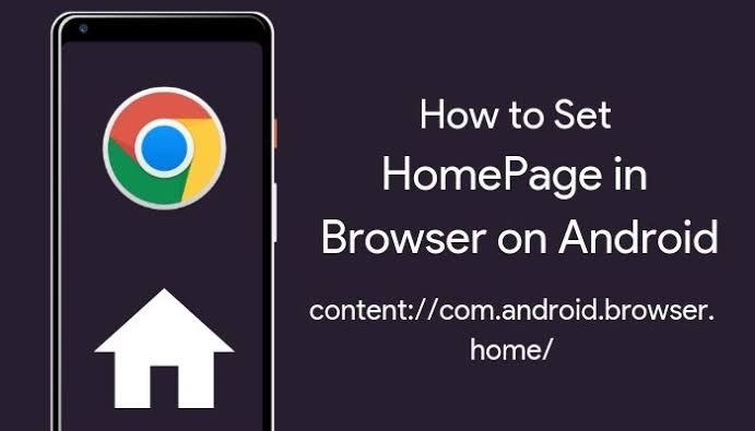 How to set homepage in browser on android