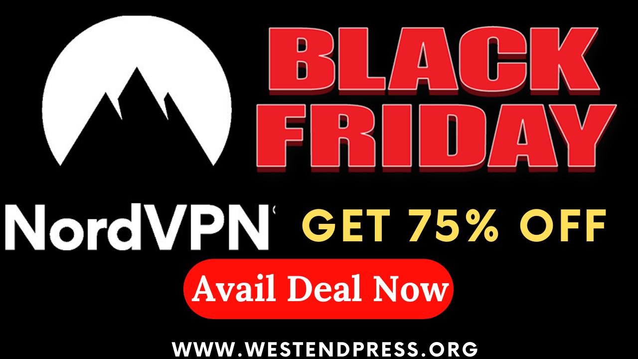 Black Friday Nord VPN get 75% off