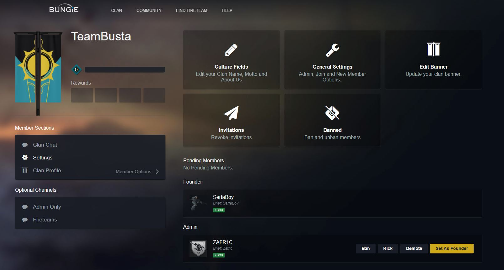 Creating and joining Destiny 2 clans