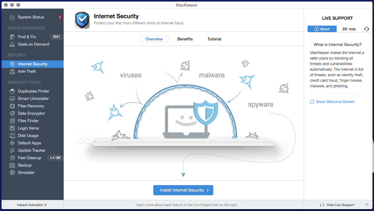 Internet security by MacKeeper