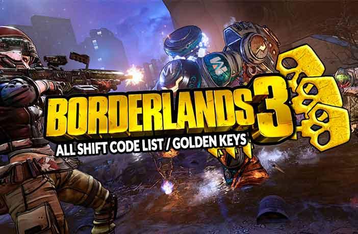 Borderland 3 all shift code list and golden keys