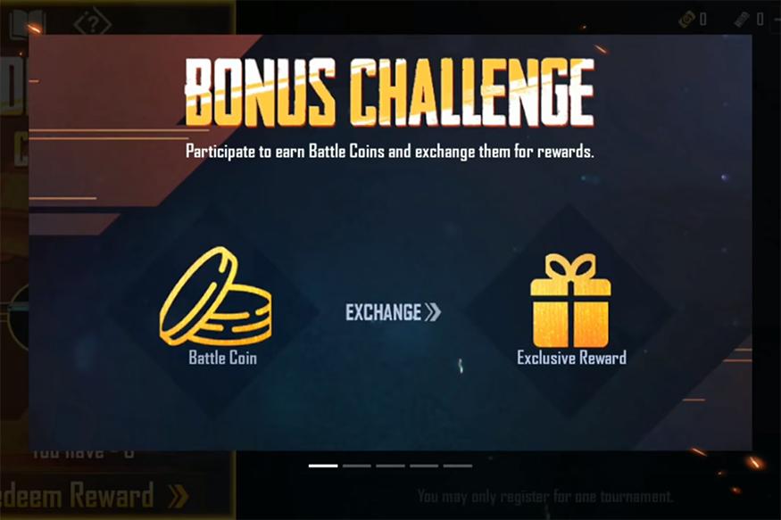PUBG mobile Bonus Challenge