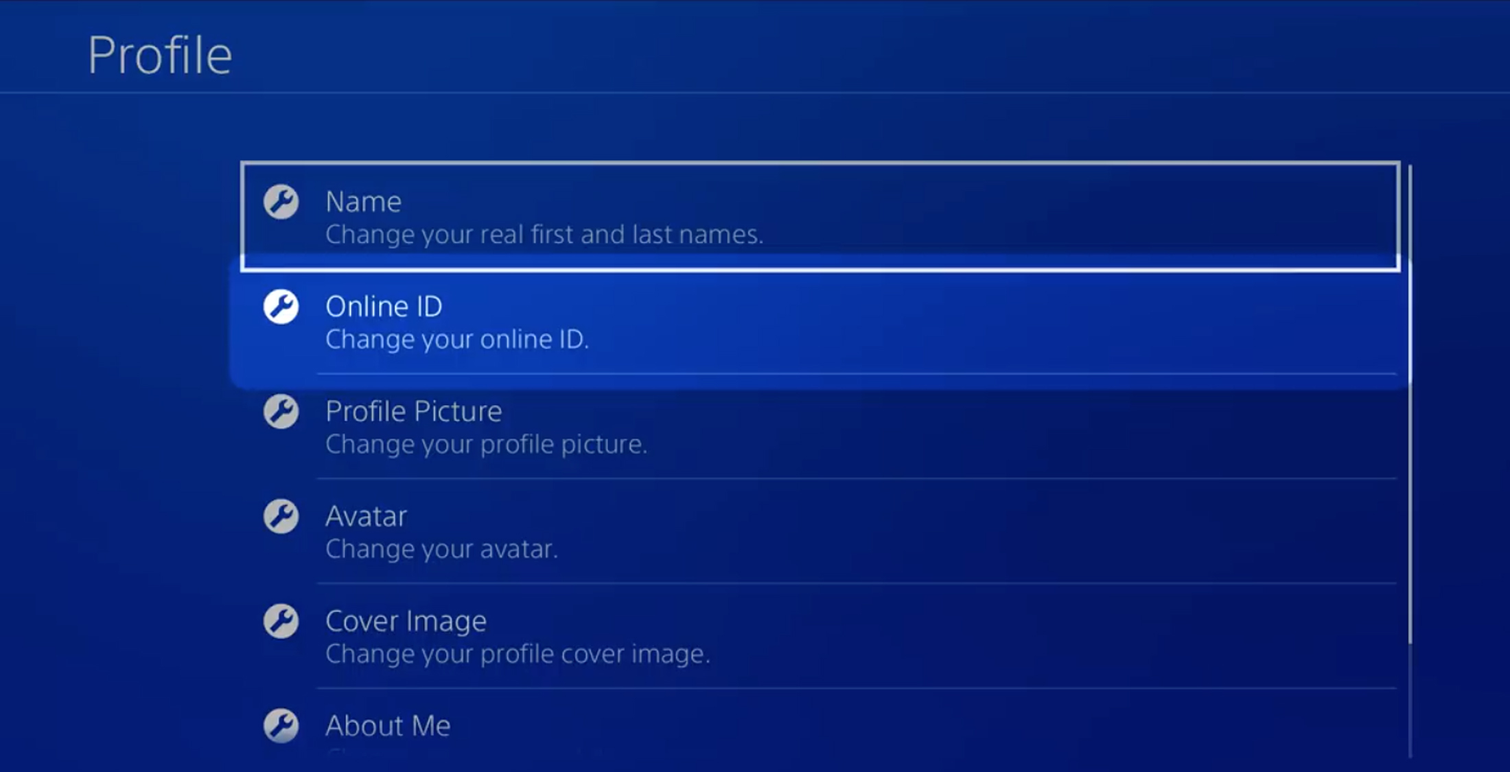 change PSN name on PS4 system