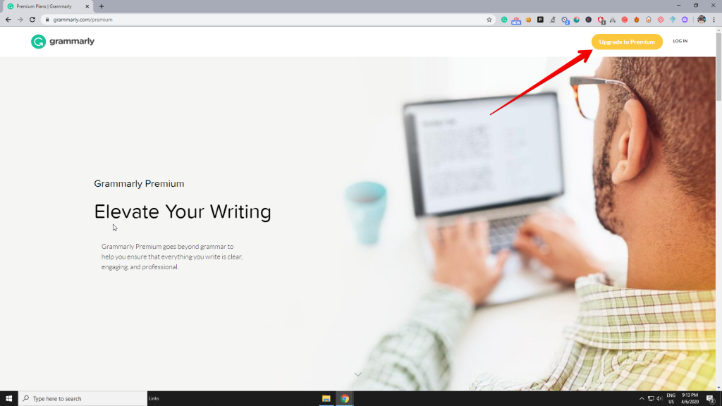 Select Grammarly premium