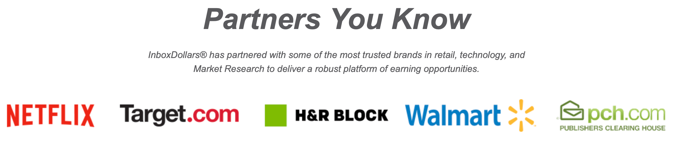 InboxDollars partners
