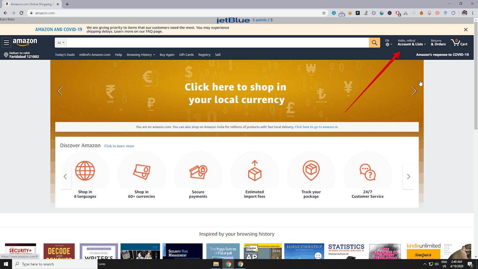 Amazon accounts and lists