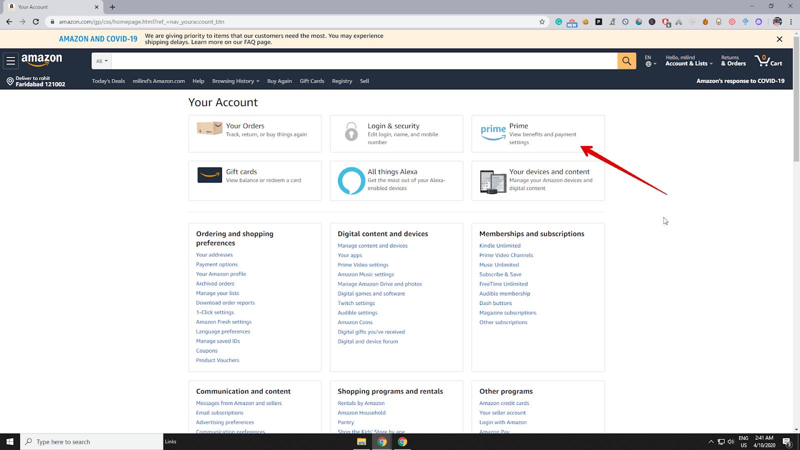 Amazon prime membership details