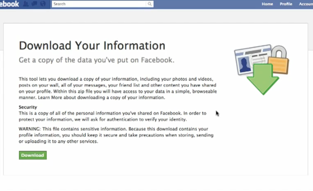 Download all your Facebook information