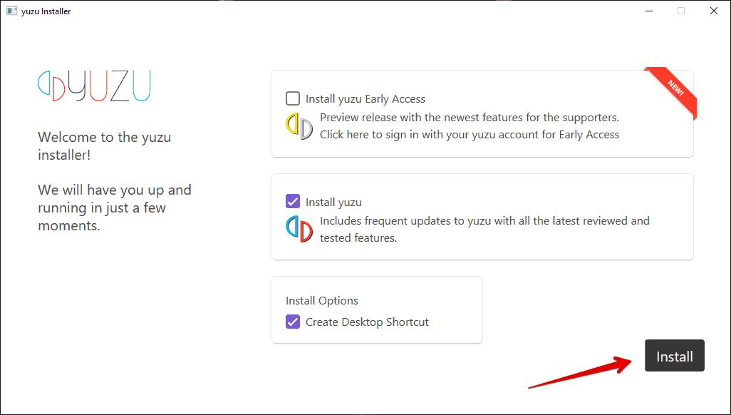 Install Yuzu Emulator