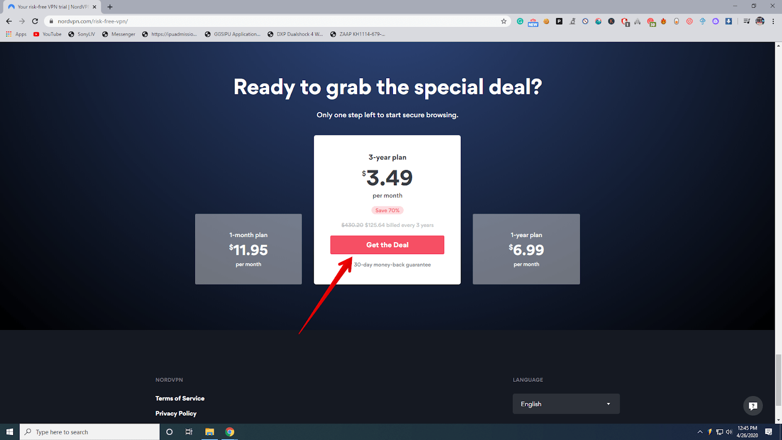 Nord VPN plans and pricing